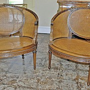 Wonderful Pair of French Cane Bergere Chairs