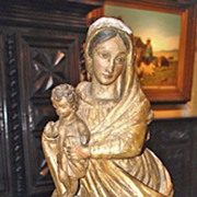 18th Century Carved Madonna & Child