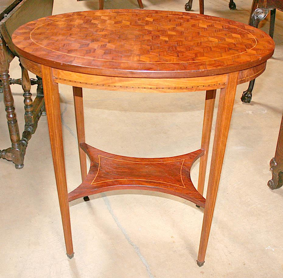 French Oval Side Table