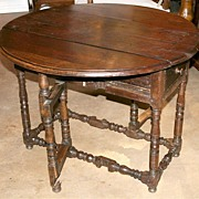 Rustic French Gate-leg Table