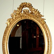 French Oval Gilt Mirror