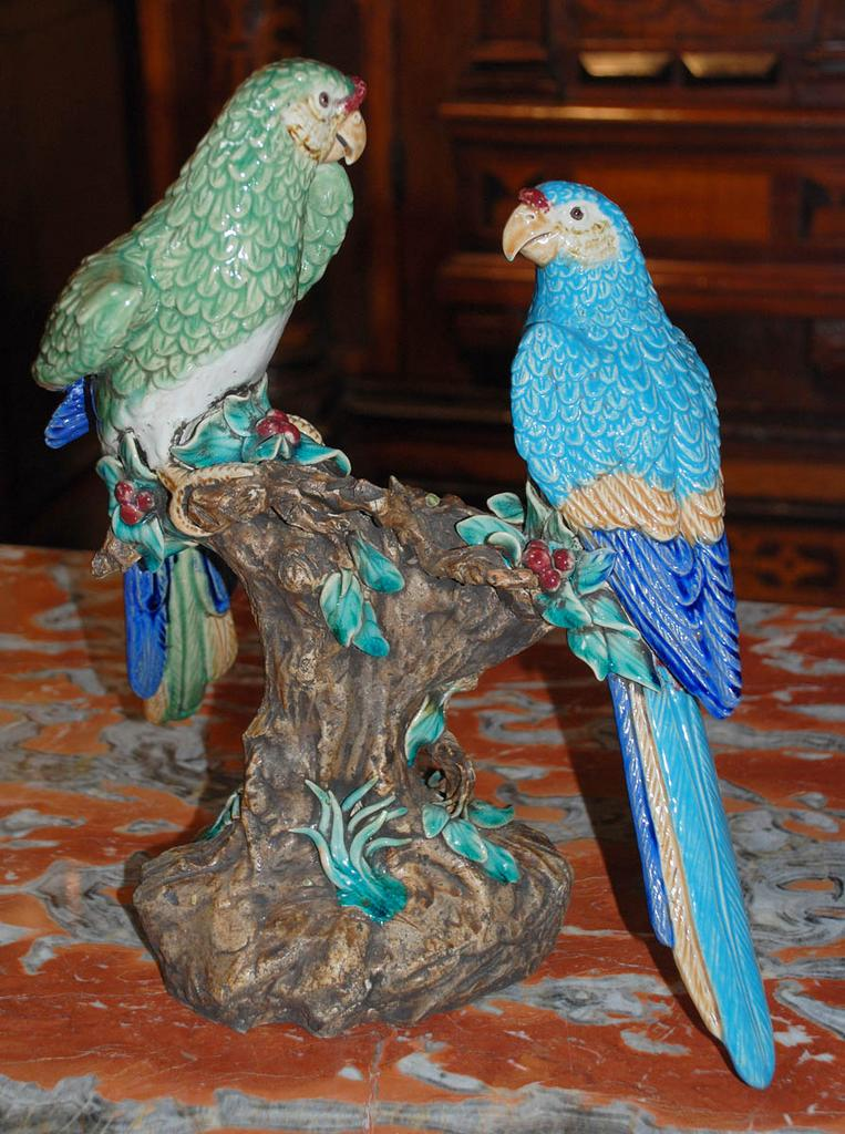 French Faience Parrots