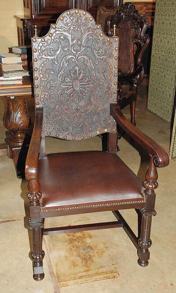 Portuguese Carved Armchair