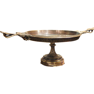 Wonderful Bronze Compote with Handles