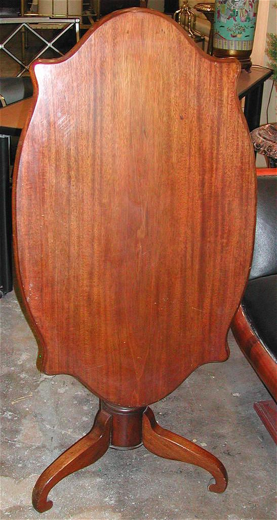 Great Antique Walnut Tilt-Top Table