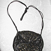 To Fab ViVa Black Leather Shoulder Bag