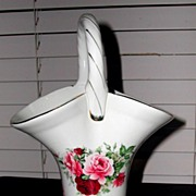 "Pretty ""Formalities"" Porcelain Baum Bros Basket"