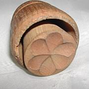 Primitive Clover or 6 Leaf  Flower Design Butter Mold