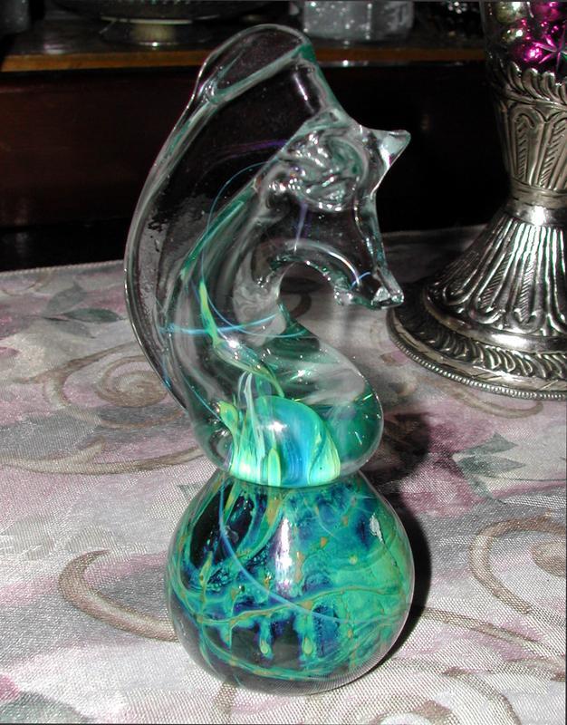 Regal Art Glass Seahorse Paperweight
