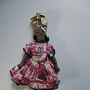 Brown Cloth doll with embroidered face