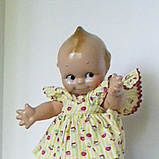 All Composition Kewpie doll is fully  jointed