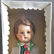 Exceptional German Bavarian Boy doll in box A/O
