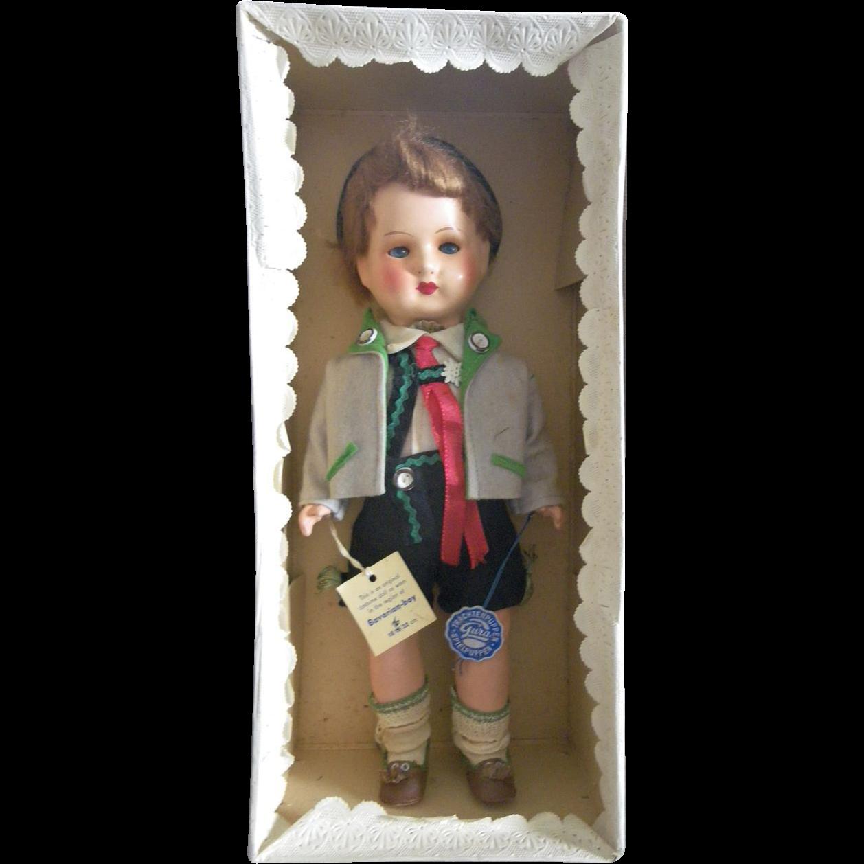Exceptional German Bavarian Boy doll in box A/O