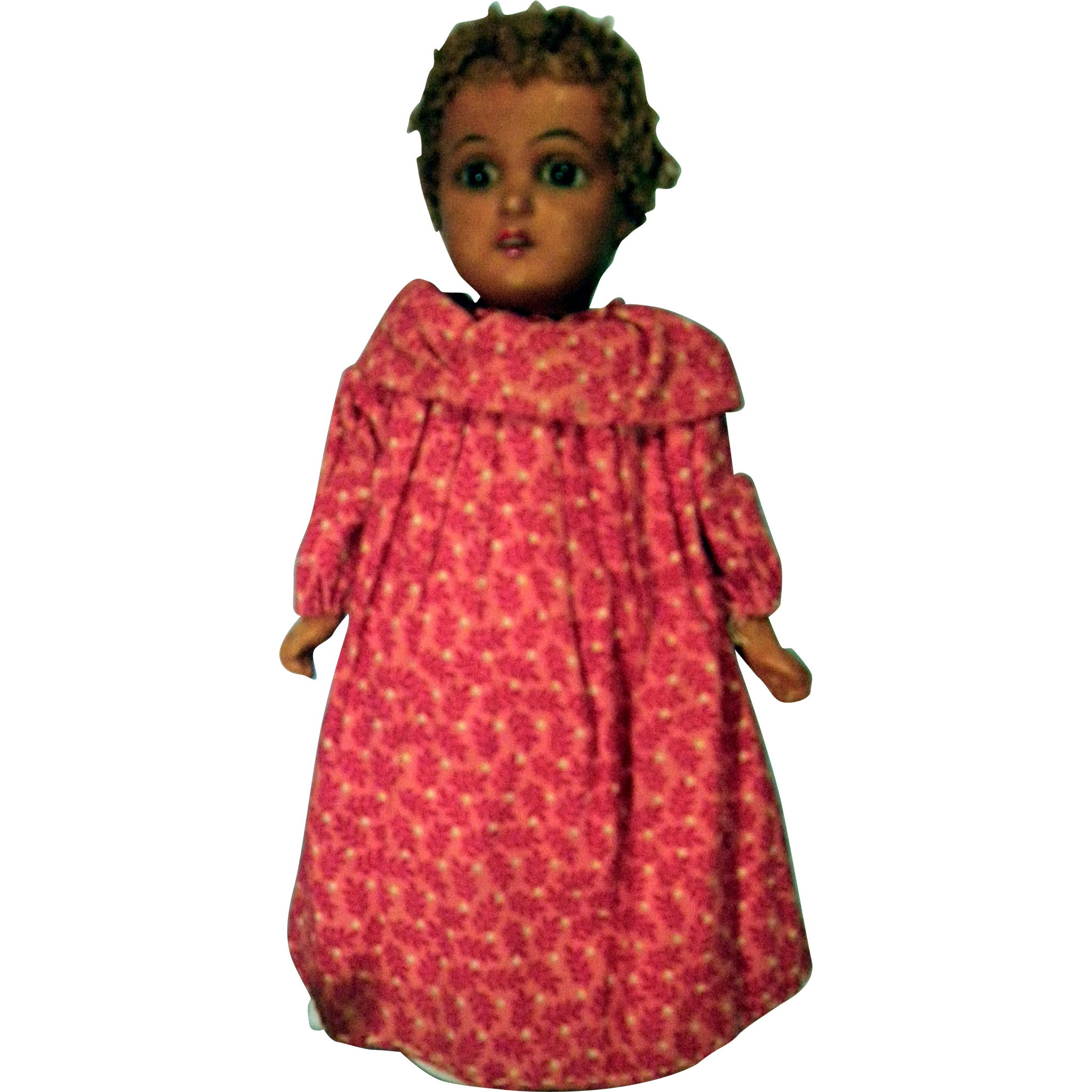 9 inch Black bisque doll