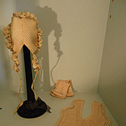 3 pieces Crocheted antique baby clothes