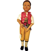 Swiss Linden Wood Carved Boy doll