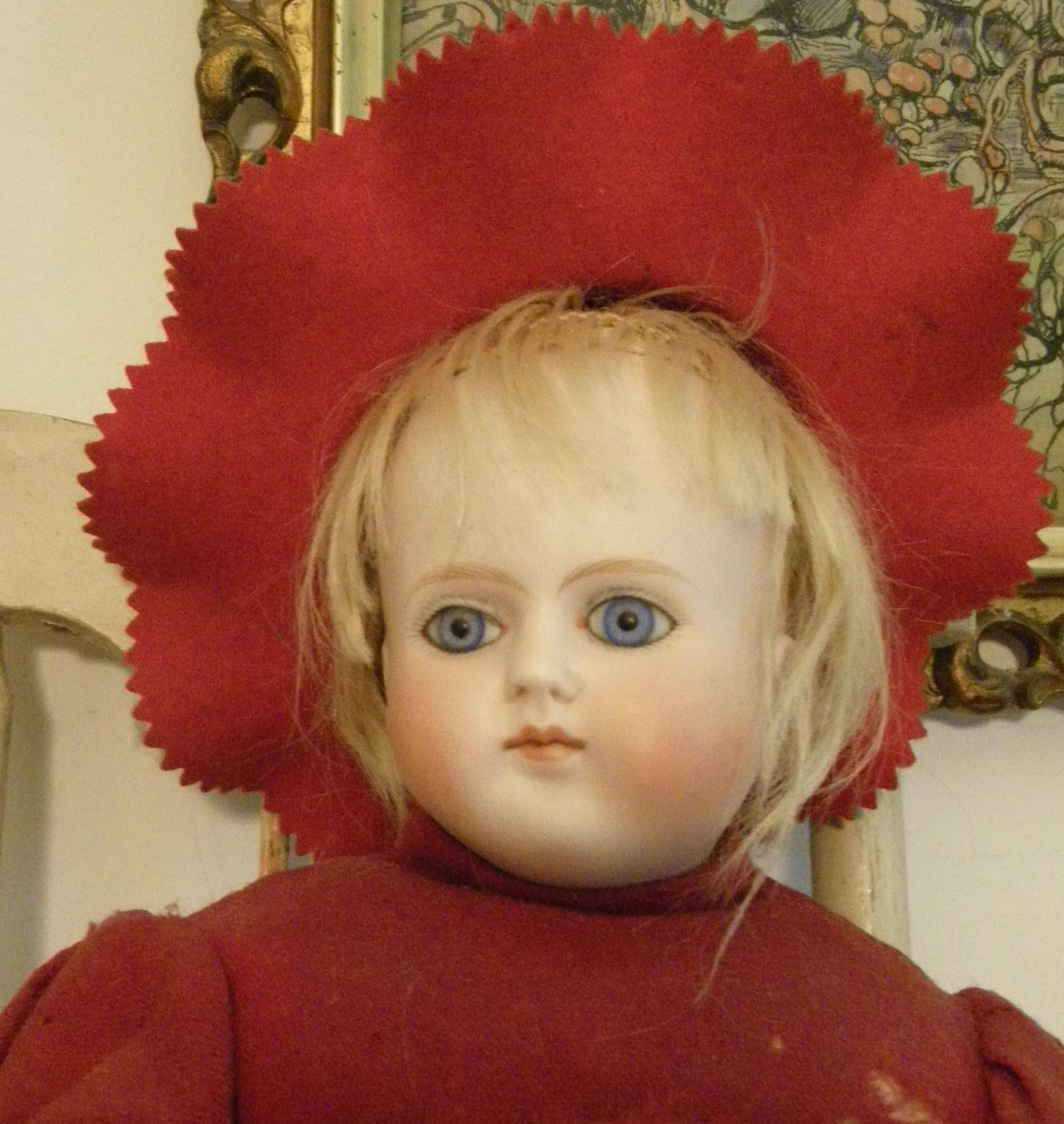 German Turned Shoulder head doll