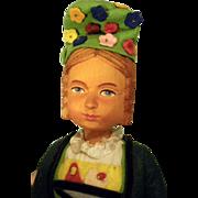 Swiss Wooden Girl doll