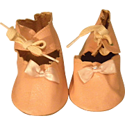 Large Pink Oil Cloth Doll Shoes