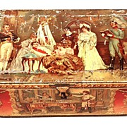 Antique French Metal Tin: Napoleon: circa 1895-1900
