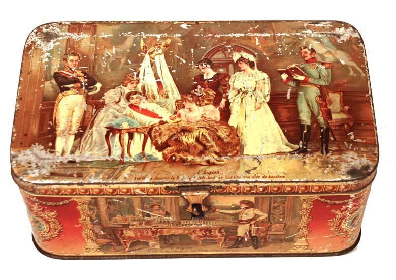 Antique French Metal Tin: Napoleon: circa 1895-1900