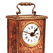 Nineteenth Century French Vernis Martin/Bronze Ormolu Carriage Clock