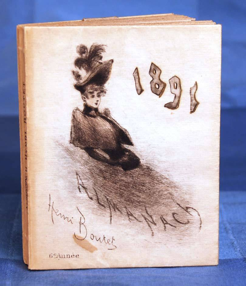 Antique 19th Century French Ladies' Almanach circa 1891