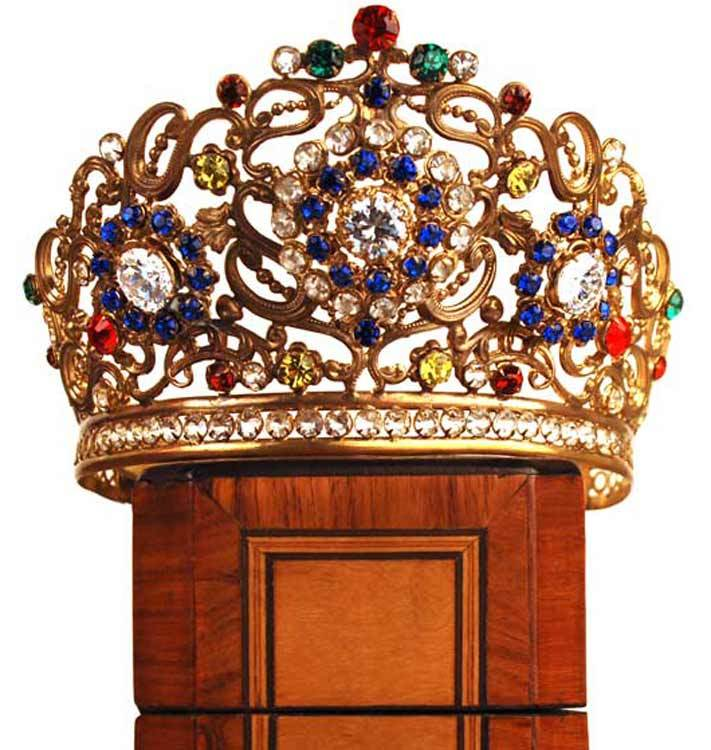 Antique Nineteenth Century French Santos Crown