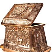 Antique Napoleon III Bronze/Metal/Copper Figural Coffre