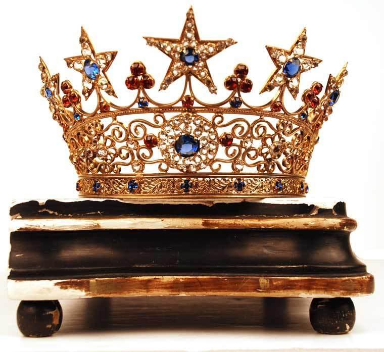 Antique French Santos Crown/Tiara