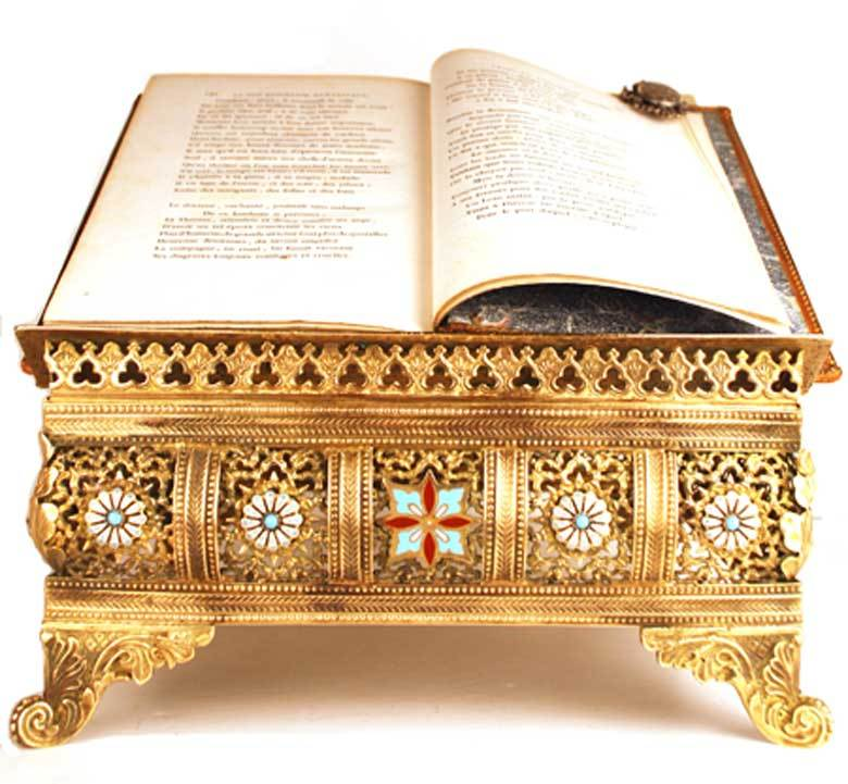 Antique Nineteenth Century French Brass Bible/Book Stand