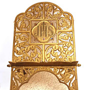 """Antique Nineteenth Century Large French Gilded Bronze Religious """"Lutrin"""" (Lectern)"""