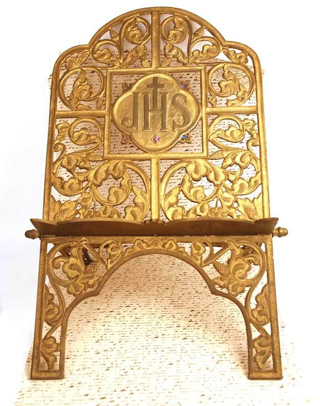 "Antique Nineteenth Century Large French Gilded Bronze Religious ""Lutrin"" (Lectern)"