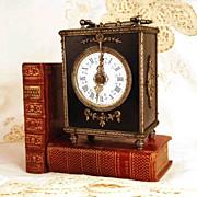 Antique Napoleon III Era French Carriage Clock