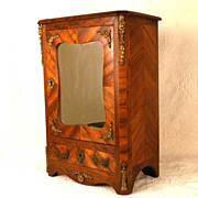 Antique Nineteenth Century Miniature French Satinwood Armoire
