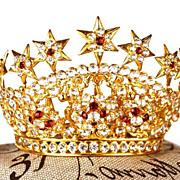 "Antique Nineteenth Century Diadem Santos Crown ""Tremblant"""
