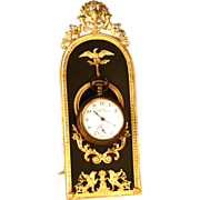 Exquisite Antique Napoleon III Era Standing Porte Montre/Watch Holder with Gilded Ormolu