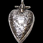 Fine Antique Nineteenth Century Belgian Sacred Heart Reliquary Box
