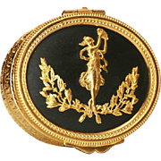Fine Antique Napoleon III Gilded Brass Coffre Box