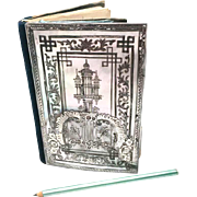 Antique Nineteenth Century French Silver Mother of Pearl Carnet de Bal