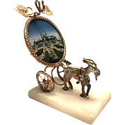 Antique Nineteenth Century Palais Royal Figural Eglomise Porte Montre Watch Holder