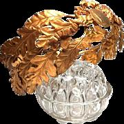 Large French Antique Gilded Brass Laurel Oak Garland Crown Wedding Tiara