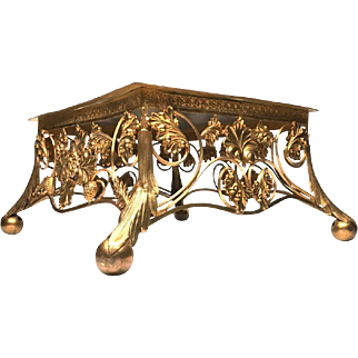 Antique Nineteenth Century Gilded French Bronze Lutrin