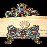 Antique Nineteenth Century Champleve Bronze Porte Lettre