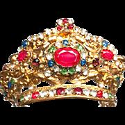 Antique Nineteenth Century French Gilded Bronze Brass Diadem Santos Madonna Crown
