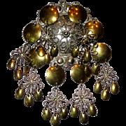 Vintage Norwegian Solje Silver Signed Wedding Gift Costume Brooch