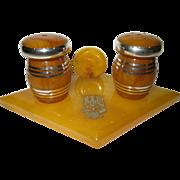 Vintage Bakelite Frankfurt Germany Salt Pepper Shaker Set