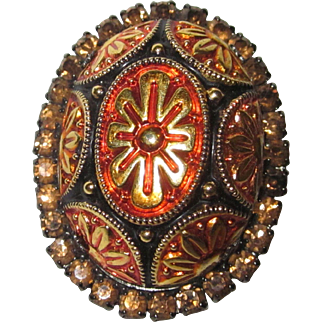 Juliana DeLizza and Elster Topaz Mosaic Brooch Pendant