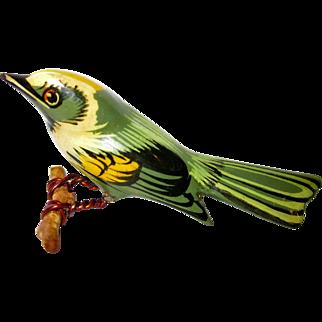 Takahashi Bird Pin Golden Winged Warbler Authentic