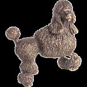 Cast Bronze Poodle Dog Figure Signed by Artist Miniature